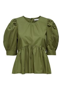 ONLY - ONLKARLA S/S PUFF SLEEVE TOP WVN - Blouse - martini olive - 0