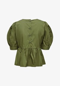 ONLY - ONLKARLA S/S PUFF SLEEVE TOP WVN - Blouse - martini olive - 1
