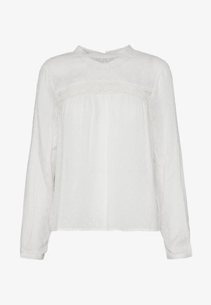 ONLPELIA LIFE DOT BLOUSE - Pusero - cloud dancer