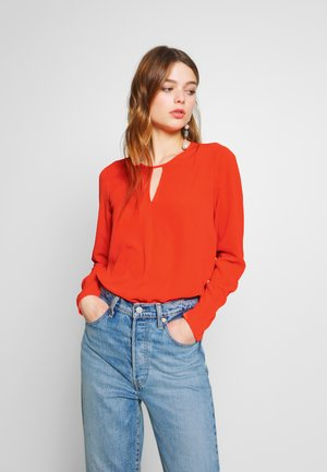 ONLNOVA KEY HOLE SOLID - Blouse - cherry tomato