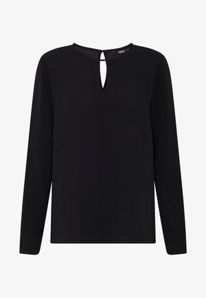 ONLNOVA KEY HOLE SOLID - Blouse - black