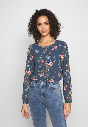 ONLCLAIRE O-NECK - Bluse - dark denim