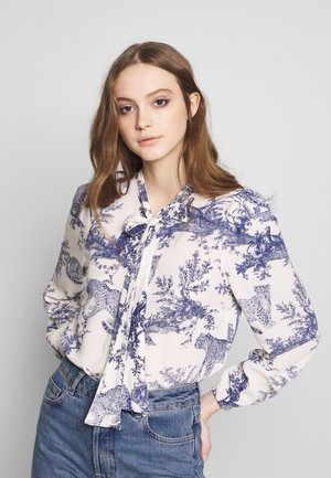 ONQVIKA BOW - Button-down blouse - white swan/blue