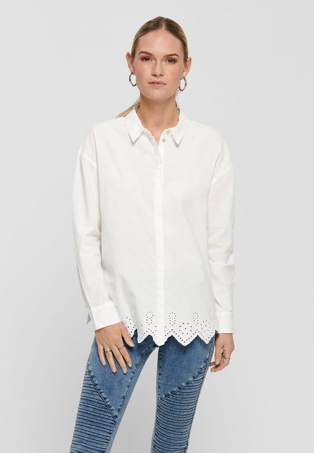 Button-down blouse - cloud dancer