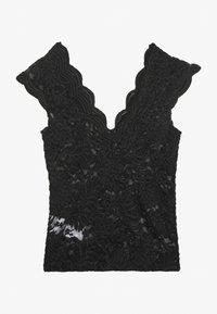 ONLY - ONLALBA VNECK - Blouse - black - 1