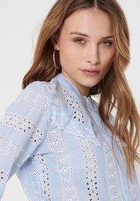 ONLY - OBERTEIL LOCHSTICKEREI - Button-down blouse - cloud dancer - 3