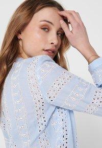 ONLY - OBERTEIL LOCHSTICKEREI - Button-down blouse - cloud dancer - 4