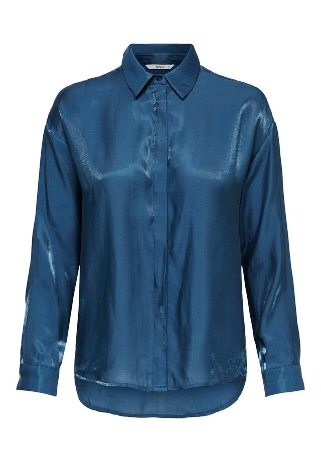 HEMD GLÄNZENDE - Button-down blouse - dark denim