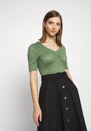 ONYLENNI V NECK - Blusa - hedge green