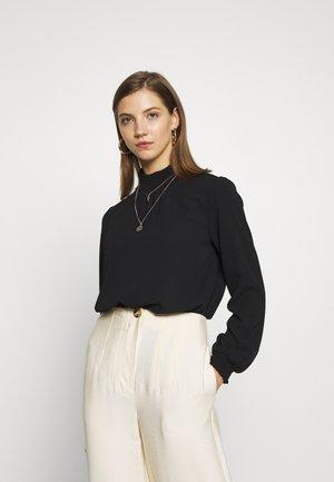 ONLNOVA LUX  SOLID - Bluse - black