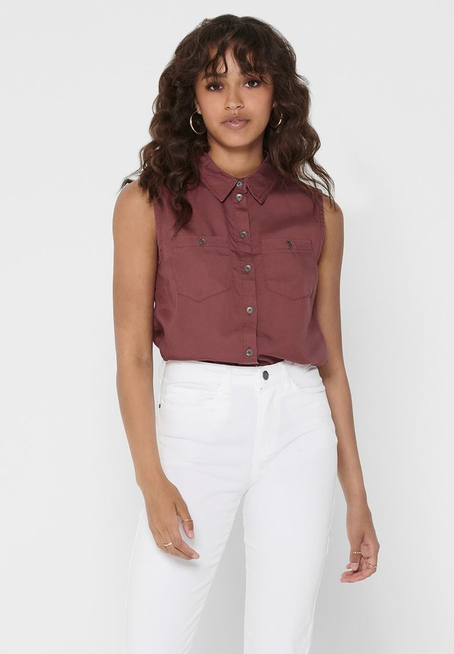 Button-down blouse - apple butter