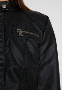 ONLY - BANDIT BIKER - Kunstlederjacke - black - 5