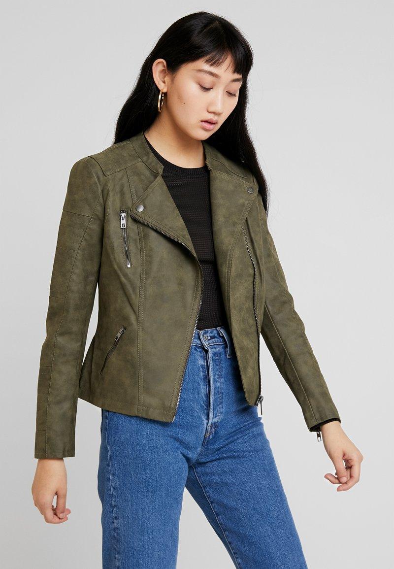 ONLY - ONLAVA BIKER  - Faux leather jacket - kalamata
