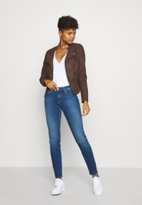 ONLY - ONLAVA BIKER  - Faux leather jacket - chicory coffee - 1