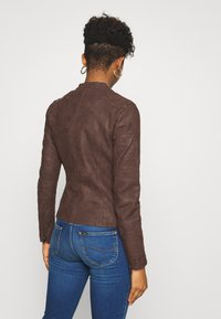 ONLY - ONLAVA BIKER  - Faux leather jacket - chicory coffee - 2