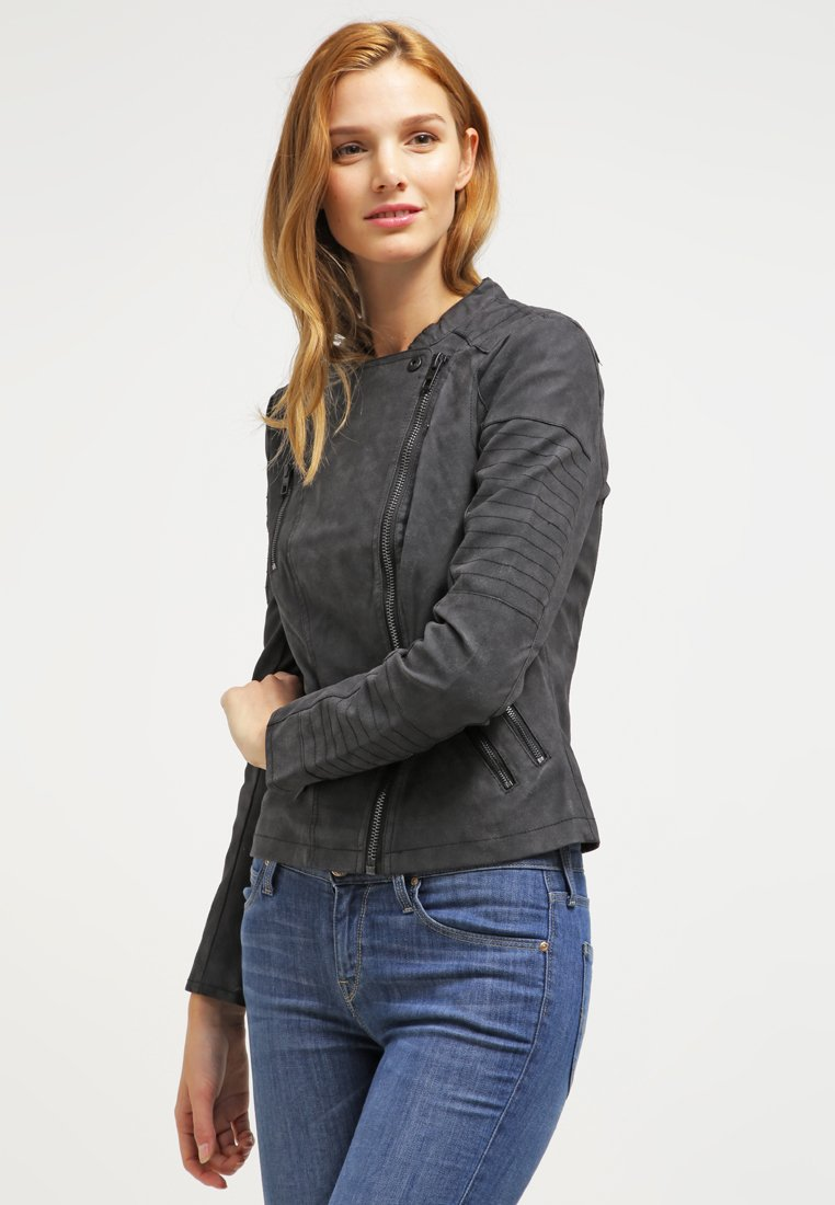 ONLY - ONLAVA BIKER  - Faux leather jacket - black