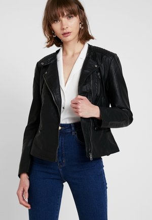 ONLFREYA - Faux leather jacket - black