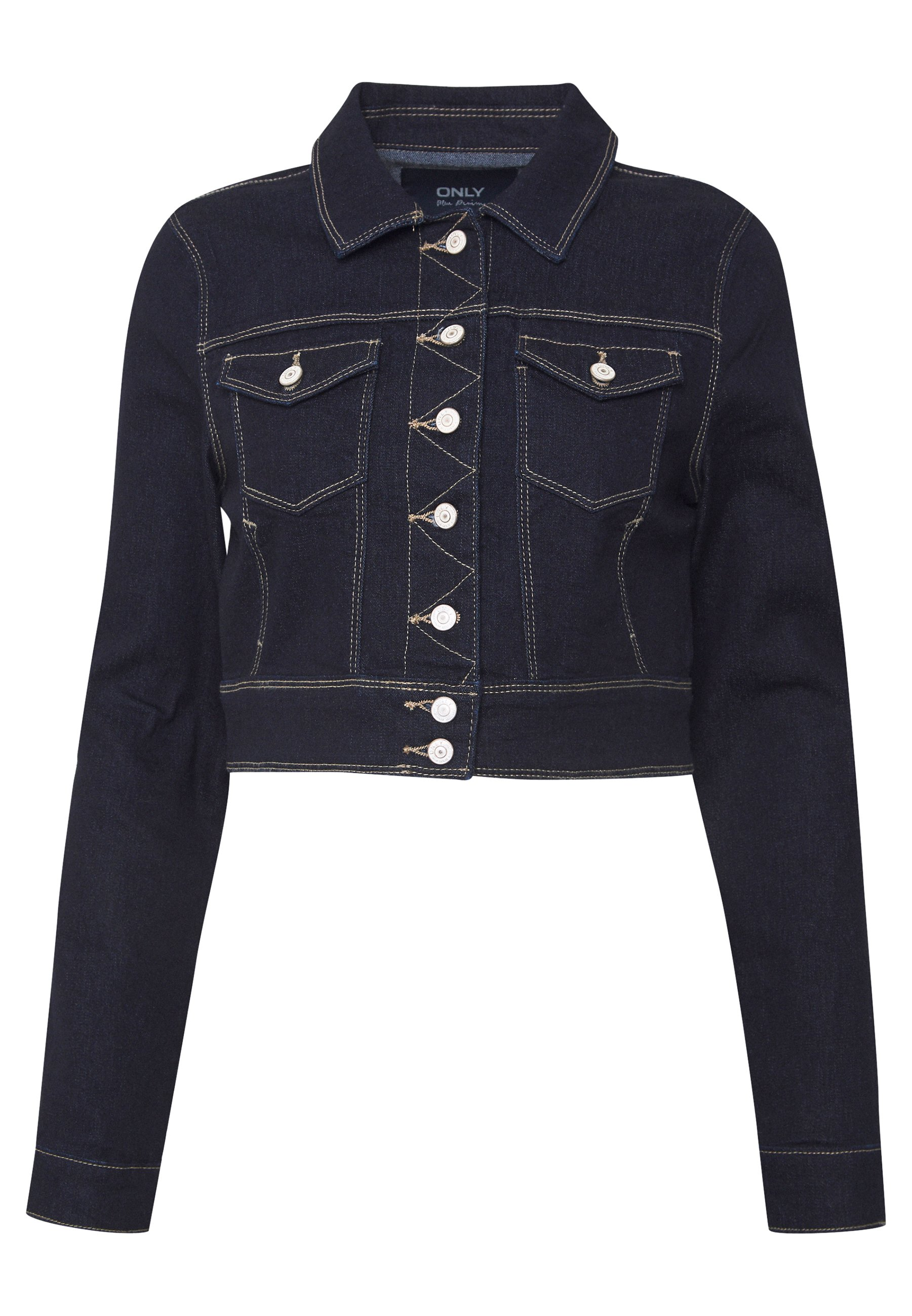 Only Onlnew Westa Cropped Jacket - Jeansjacke Dark Blue Denim