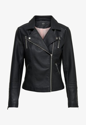 GEMMA  NOO - Imitatieleren jas - black