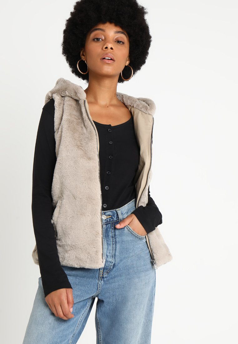 ONLY - ONLVIDA HOODED WAISTCOAT - Weste - pure cashmere