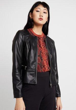 ONLNEWMONA JACKET - Faux leather jacket - black