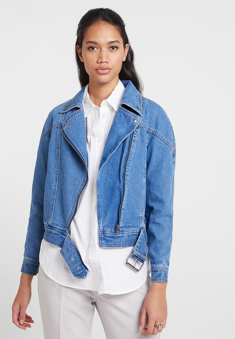 ONLY - ONLCHRISTA GERRICK JACKET - Denim jacket - medium blue denim