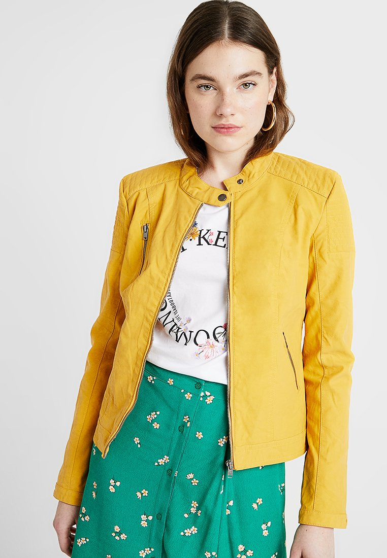 ONLY - ONLSTEADY JACKET - Faux leather jacket - yolk yellow