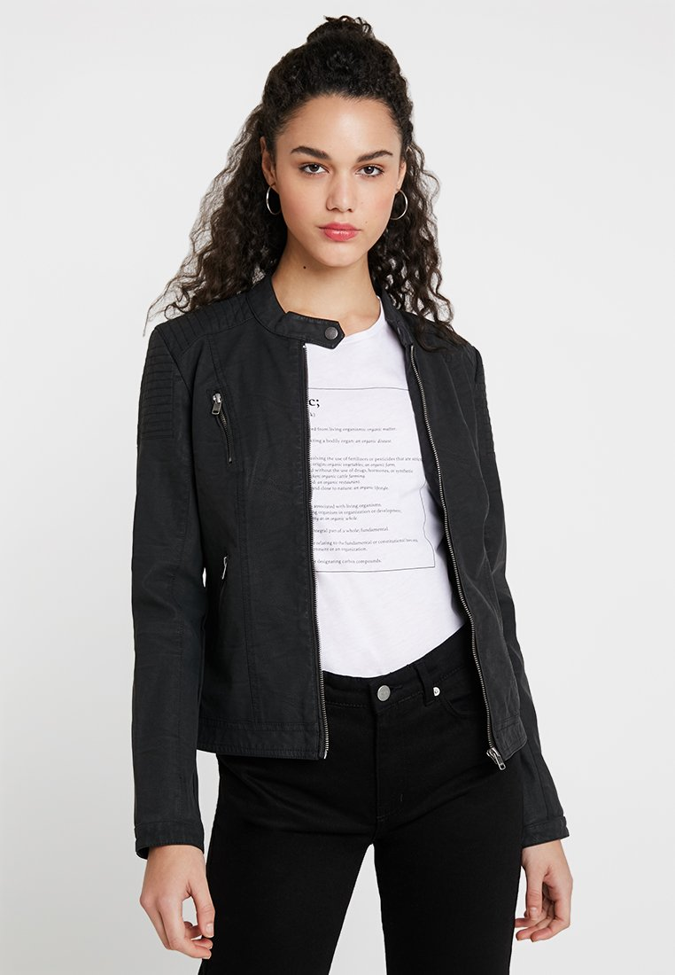 ONLY - ONLSTEADY JACKET - Faux leather jacket - black
