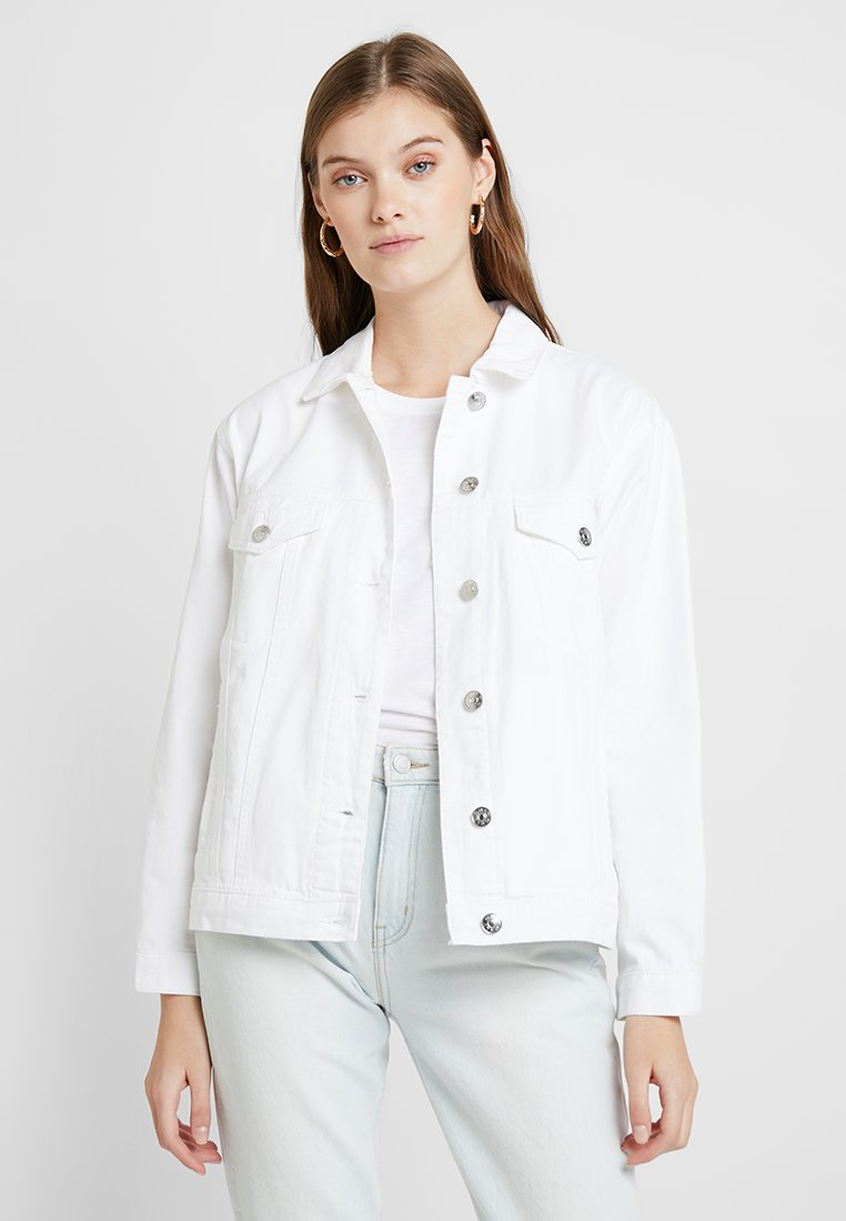 ONLY - ONLCAROLINE JACKET - Denim jacket - white