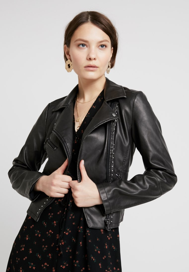 ONLY - ONLROSITA BIKER - Faux leather jacket - black