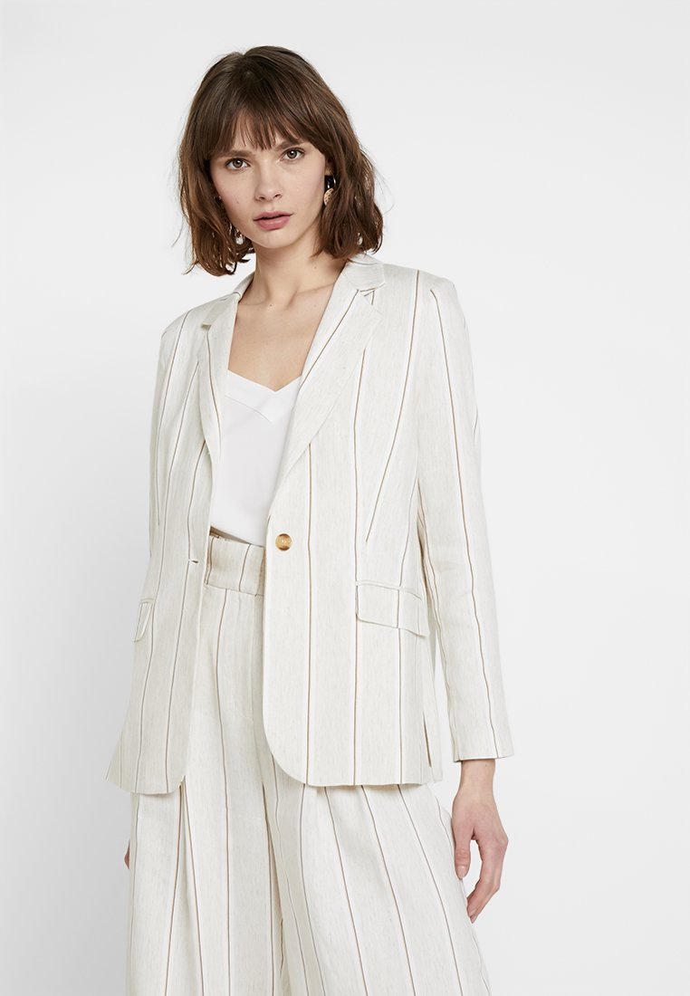 ONLY - ONQNAOMI LOOSE - Blazer - bright white/old gold