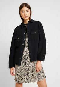 ONLY - ONLEVERLY RAGLAN JACKET YORK - Denim jacket - black - 0