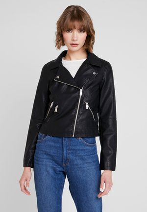 ONYFILIPPA - Faux leather jacket - black
