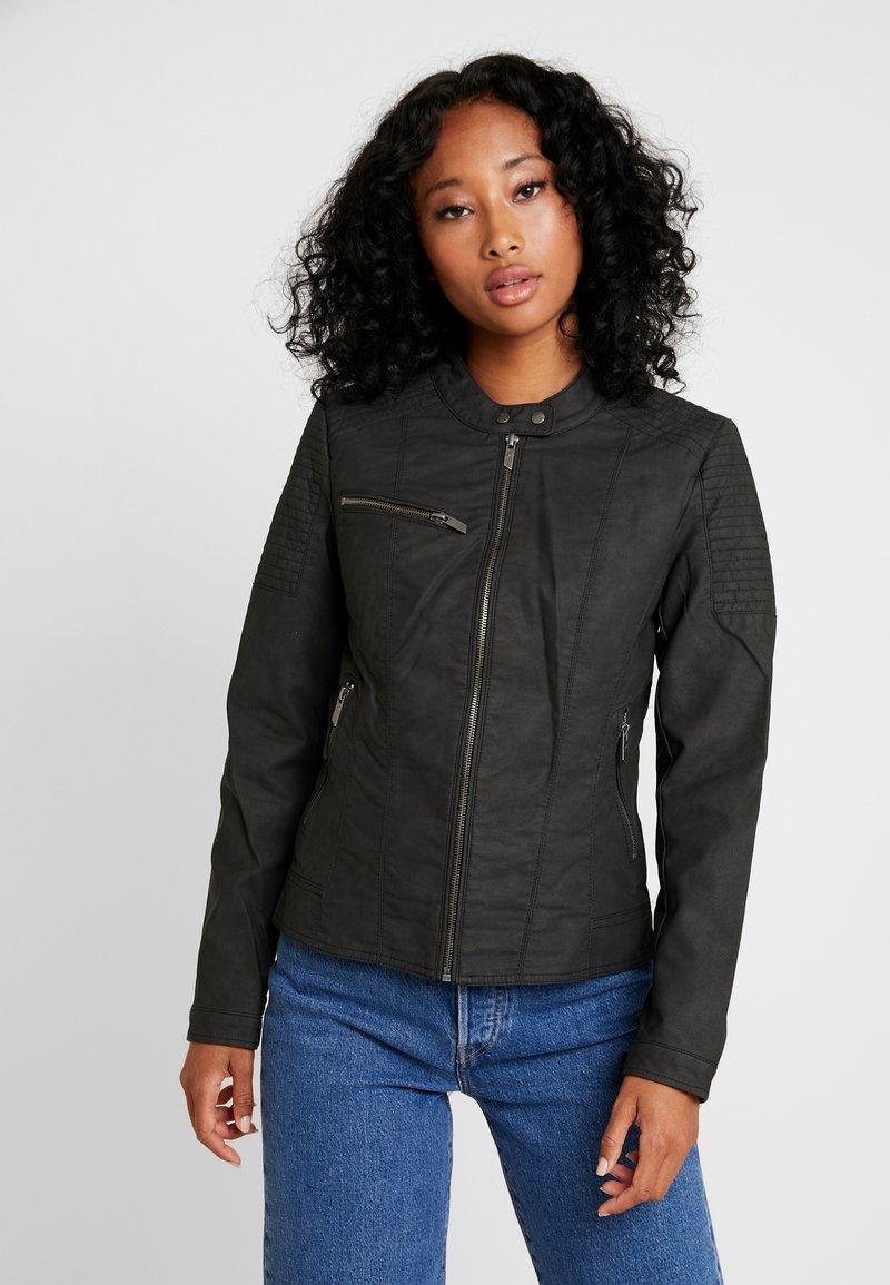 ONLY - ONLMEGAN JACKET - Faux leather jacket - black