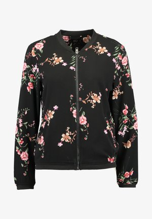 ONLNOVA BOMBER JACKET - Bomberjacke - black/red flower