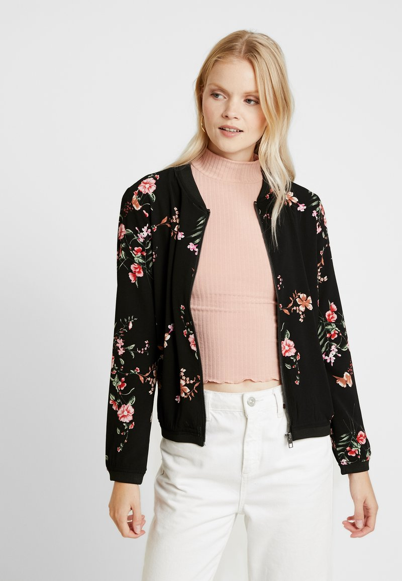 ONLY - ONLNOVA BOMBER JACKET - Bomberjakke - black/red flower