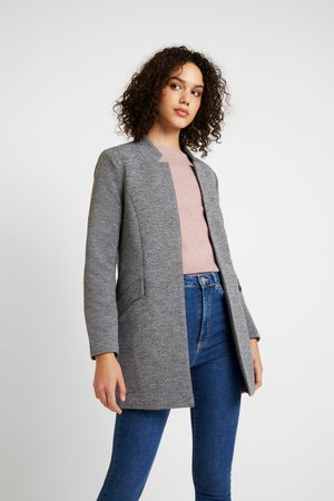 ONLLINDA COATIGAN - Short coat - medium grey melange