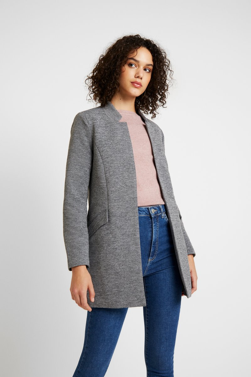 ONLY - ONLLINDA COATIGAN - Manteau court - medium grey melange