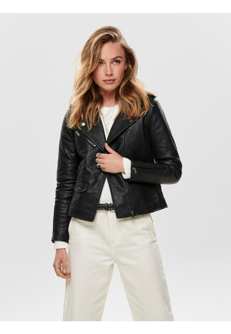 ONLY - Faux leather jacket - black