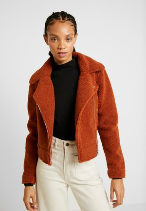 Faux leather jacket - ginger bread