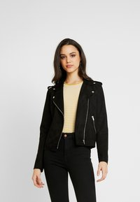 ONLY - ONLMAYO BIKER JACKET - Veste en similicuir - black - 0