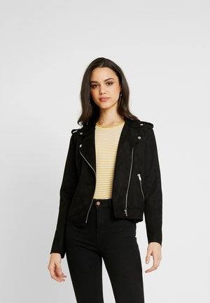 ONLMAYO BIKER JACKET - Faux leather jacket - black