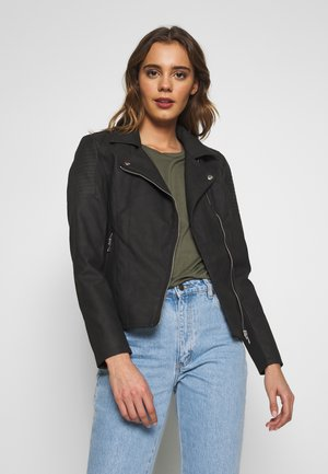 ONLMELANIE  - Faux leather jacket - black