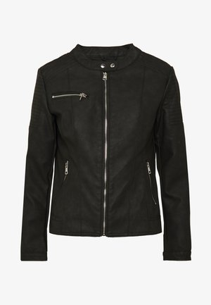 ONLMELANIE JACKET - Faux leather jacket - black