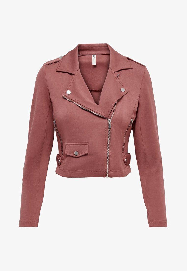 ONLY - ONLPOPTRASH BIKER JACKET PNT - Faux leather jacket - apple butter