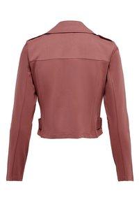 ONLY - ONLPOPTRASH BIKER JACKET PNT - Faux leather jacket - apple butter - 1