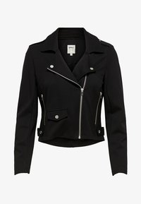 ONLY - ONLPOPTRASH BIKER JACKET PNT - Giacca in similpelle - black - 4