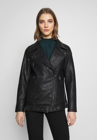 ONLY - ONLBRITT LOOSE JACKET - Kunstlederjacke - black - 0