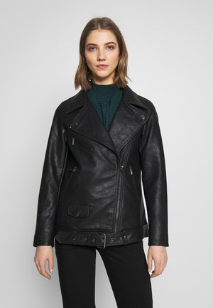 ONLBRITT LOOSE JACKET - Faux leather jacket - black