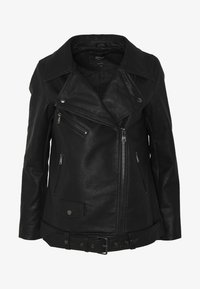 ONLY - ONLBRITT LOOSE JACKET - Kunstlederjacke - black - 4